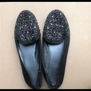 4/$60 Aldo rhinestone toe smoking slipper